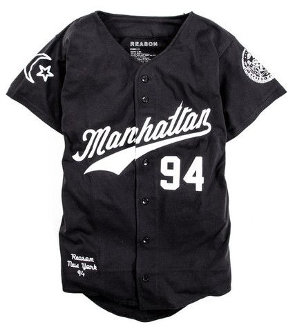 Manhattan Baseball Jersey - Black