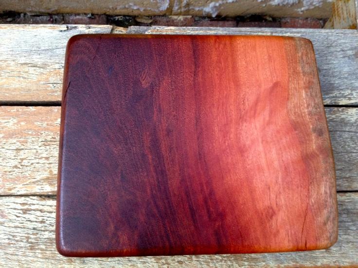 Jarrah chopping board - whittled in Perth