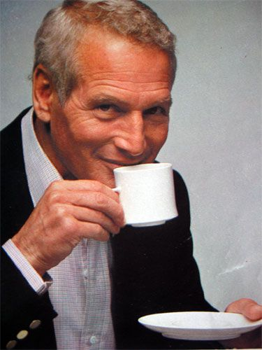 Paul Newman - an amazing actor, a great philanthropist, and a man who enjoyed a good cuppa!