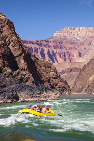 River rafting trip in the Grand Canyon. The one and only way I will ever agree to camping.