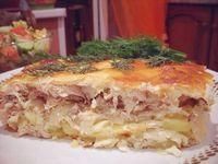 Ингредиенты: Филе куриное — 500г Лук репчатый (крупный) — 3 шт. Картофель (средний) — 4 шт. Яйца — 3 шт. Сыр плавленый — 3 шт. Йо...