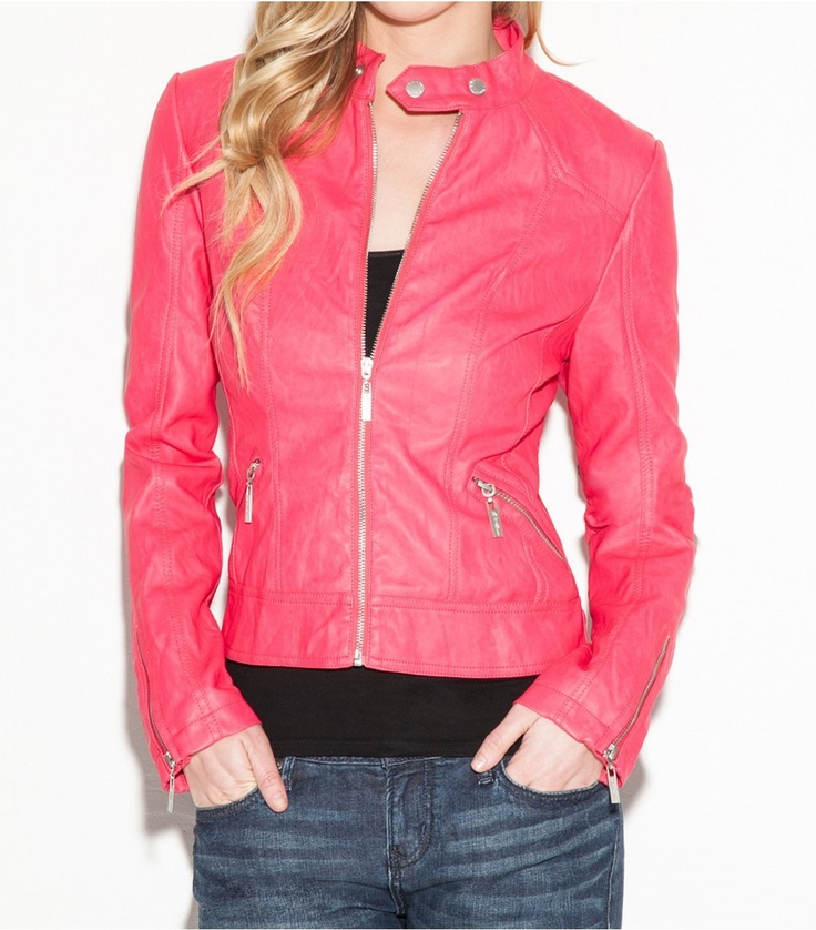 G by #GUESS Janie Faux #Leather #Jacket - $69.50  Available in 2 colors