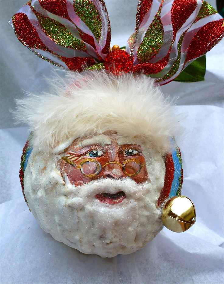 117 best gourds santa images on pinterest christmas for Santa glasses for crafts