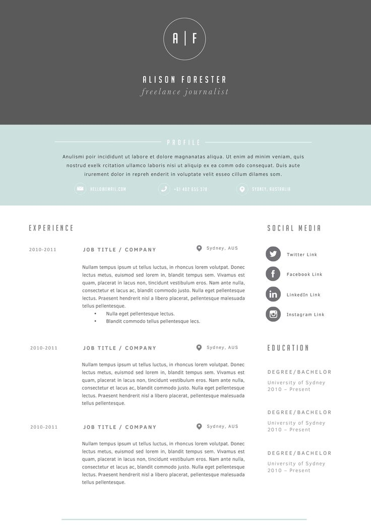 Best Resume Images On   Resume Curriculum And Resume Cv