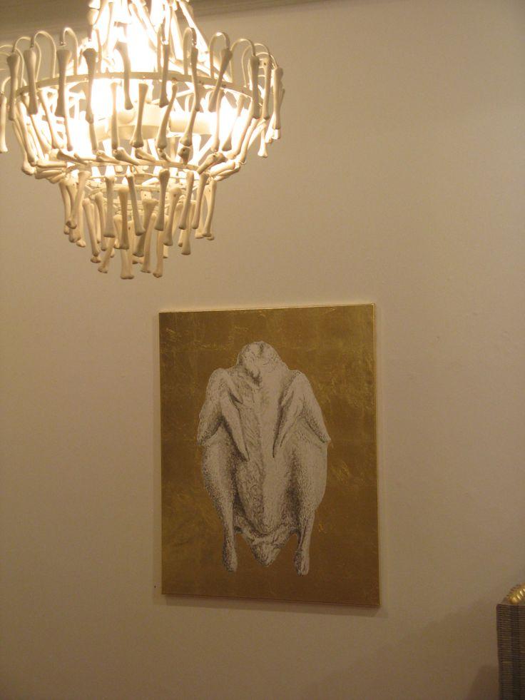 Stefan Philipps, Schöne Bescherung!, Detail aus der Installation in der Galerie Junge Kunst Trier