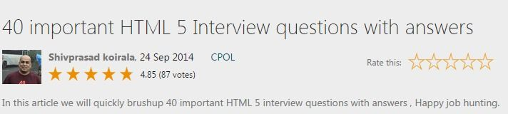 40 important HTML 5 Interview questions with answers - CodeProject