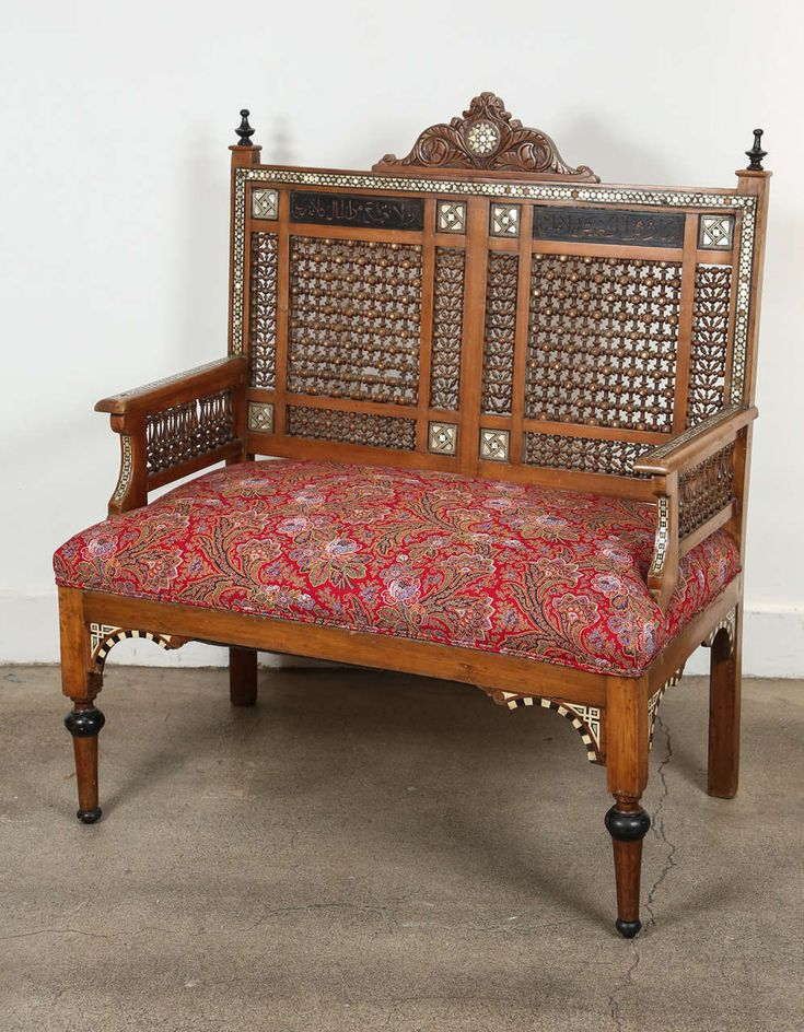 Syrian furniture is very distinctive and instantly identifiable because of the consistency of inlaid workmanship & moucharabieh woodwork. One cannot help but fall in love with such a rich history and culture!