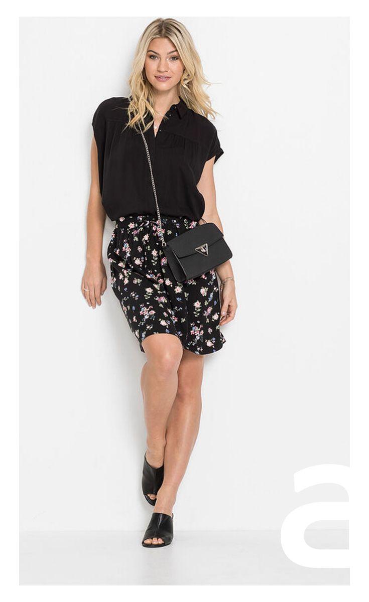 Stylizacja Damska Spodnica W Kwiatki Spodnica Mini Kobieca Stylizacja Skirts Fashion Sequin Skirt