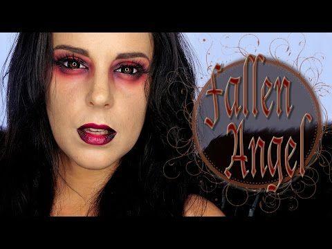 Fallen Angel Halloween Makeup tutorial | Silvia Quiros - YouTube