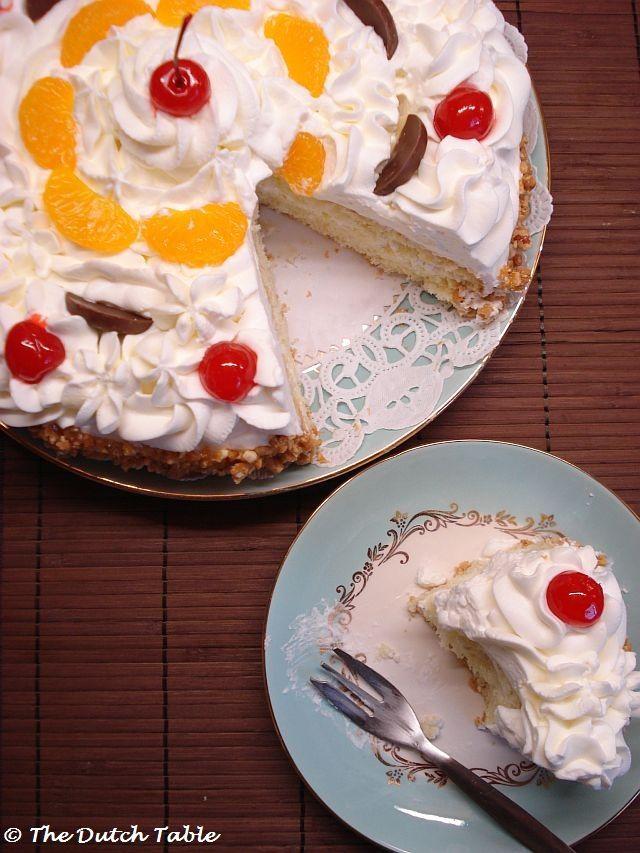 The Dutch Table: Slagroomtaart (Dutch Birthday Cake) I had a cake like this when…