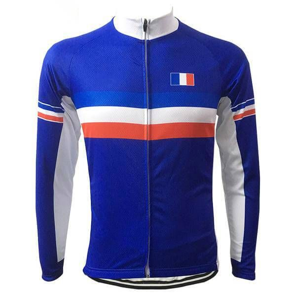 France National Flag Long Sleeve Cycling Jersey