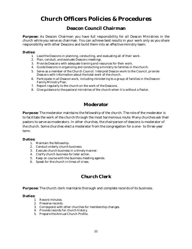 Policy And Procedure Manual Church Sle Project Proposal Template