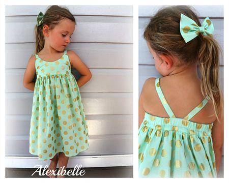 Alexibelle Hummingbird dress - Mint Glitz