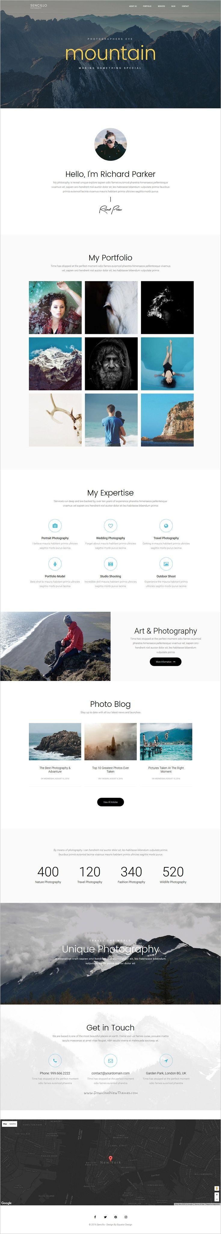 Sencillo is a creative responsive #WordPress #template for #photographer #portfolio, blog or personal website based on Layers Framework download now➩ https://themeforest.net/item/sencillo-creative-portfolioblogpersonal-wordpress-theme/17920500?ref=Datasata