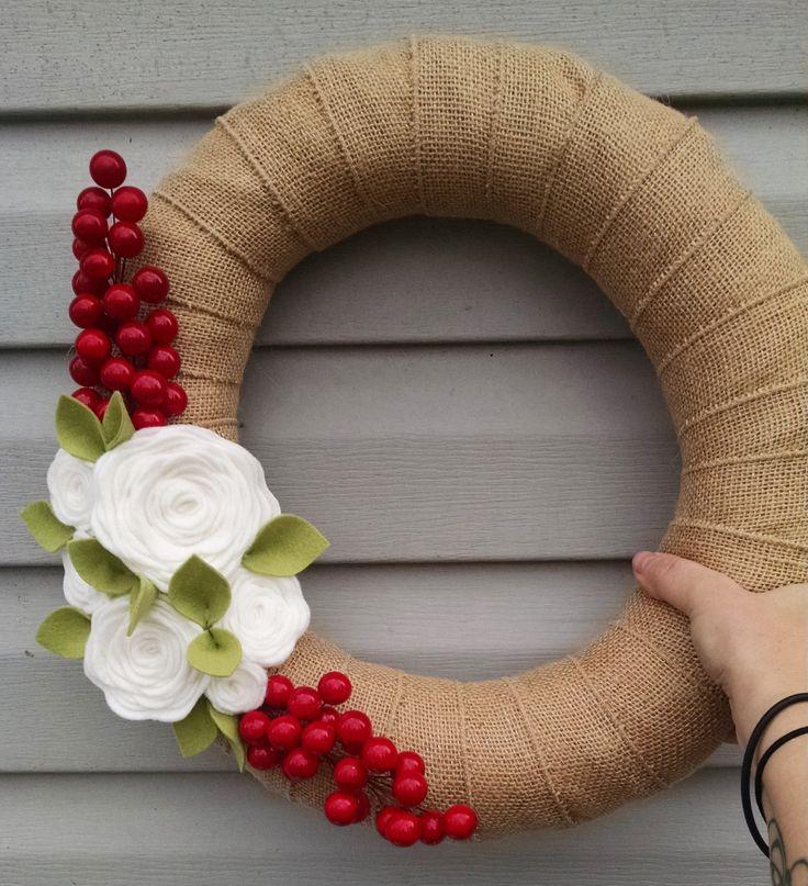 Christmas wreath modern Christmas wreath holiday wreath by madymae