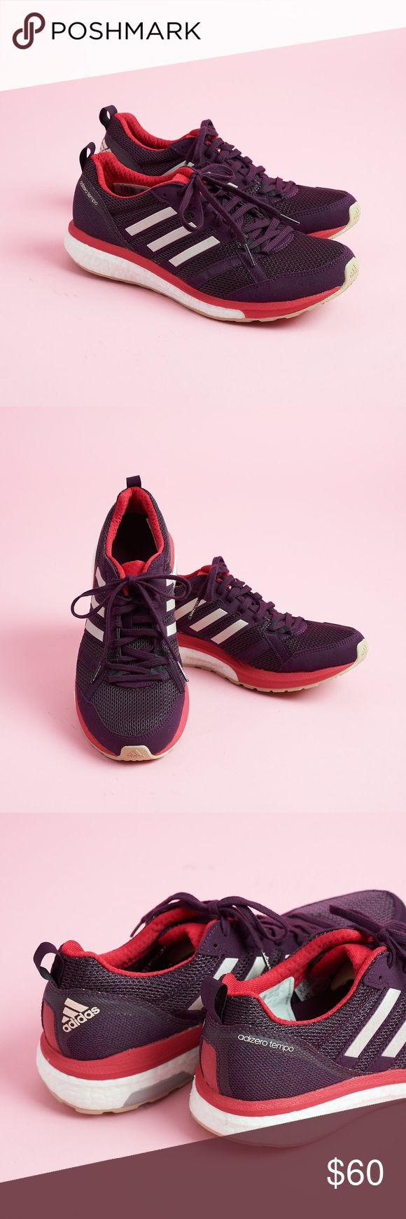 NEW Never worn Adidas Adizero Tempo 9 NWT Adidas Adizero Tempo 9 sneakers, never worn! Ultra boost style sole with continental rubber bottom. adidas Shoes Athletic Shoes