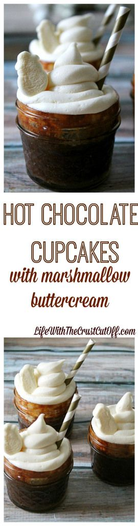 Hot Chocolate Cupcakes with Marshmallow ButterCreamLife With The Crust ...