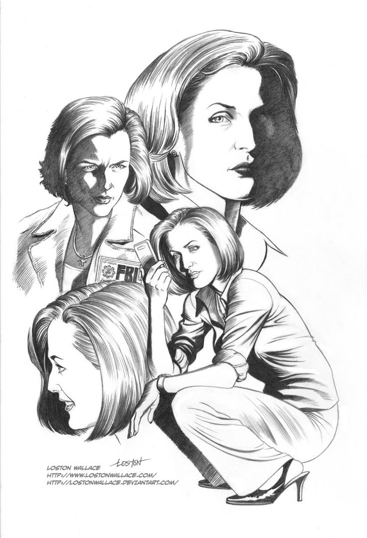 X FILES AGENT SCULLY By LostonWallace On DeviantArt This Is My Favorite Fan Art Picture The Files