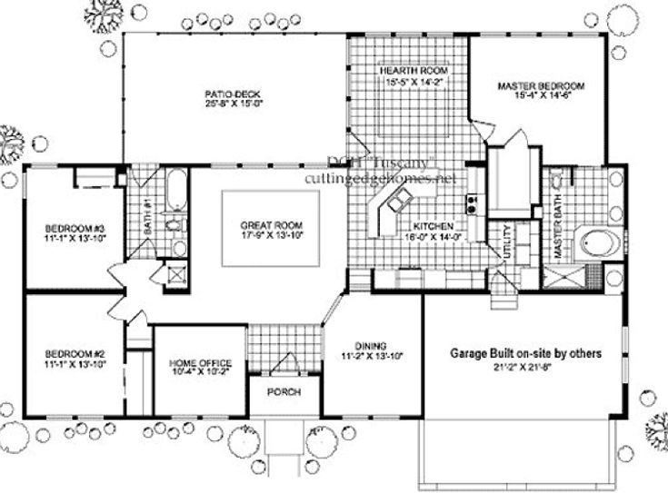 Large modular home floor plans gurus floor for Large ranch home floor plans