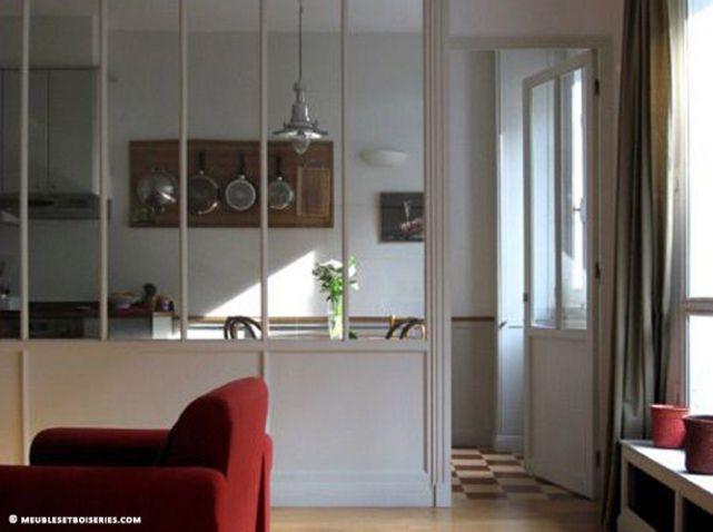 Les 25 meilleures id es de la cat gorie cuisine semi ouverte sur pinterest - Cloison vitree cuisine ...