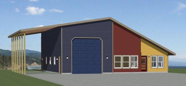 24x36 2 Car Garage 24x36g11c 1 344 Sq Ft Excellent Floor Plans Garage Apartment Plans Small House Plans House Plans