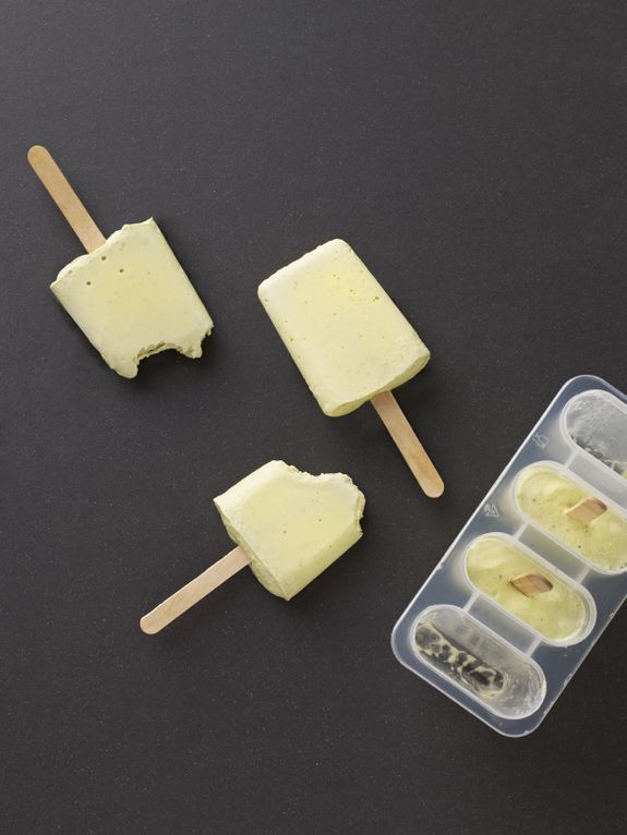 Avocado + coconut Popsicles