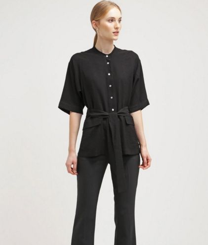 Whistles Koszula kimono czarna black