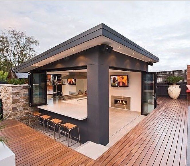 A Brilliant Garden Room Design With Bar Kitchen A Real Head