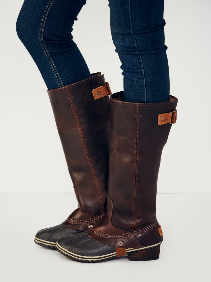 Sorel Slimpack Tall Weather Boot At Free People Clothing