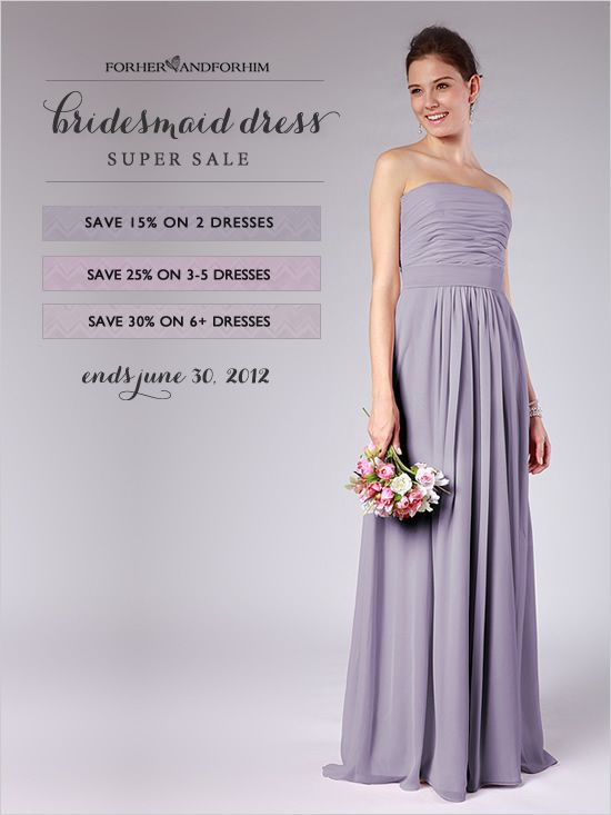 bridesmaid dress sale from http://www.forherandforhim.com/