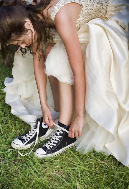 Sneakers and Prom Dress