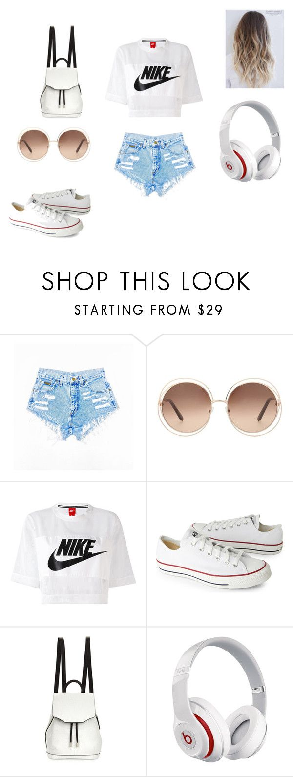 """summers here"" by lola2bravo on Polyvore featuring Chloé, NIKE, Converse, rag & bone and Beats by Dr. Dre"