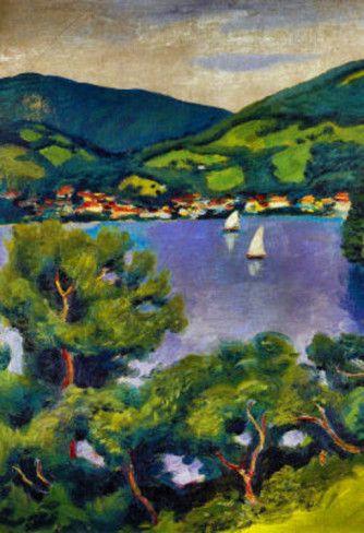 August Macke Tegern Sea Landscape Art Print Poster Masterprint