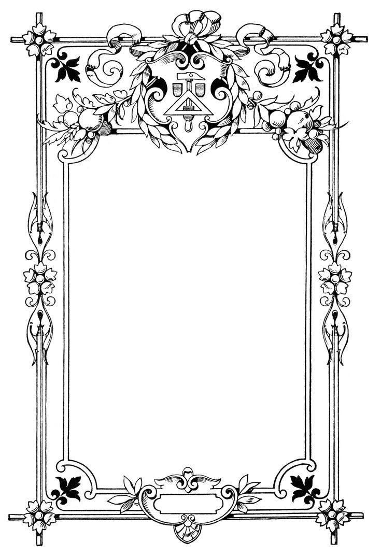 Vintage Frame Clip Art Circa 1877 French Frames