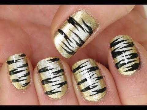 The 25 best tiger stripe nails ideas on pinterest tiger nail tiger stripes nail art tutorial prinsesfo Images