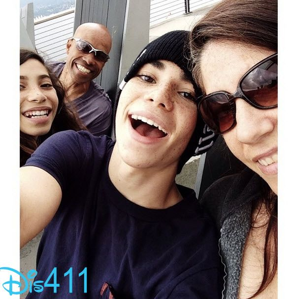Photo: Cameron Boyce With His Whole Family June 13, 2014