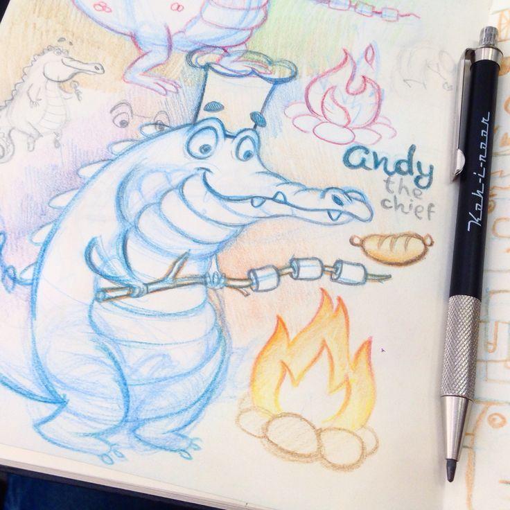 Crocodile sketch