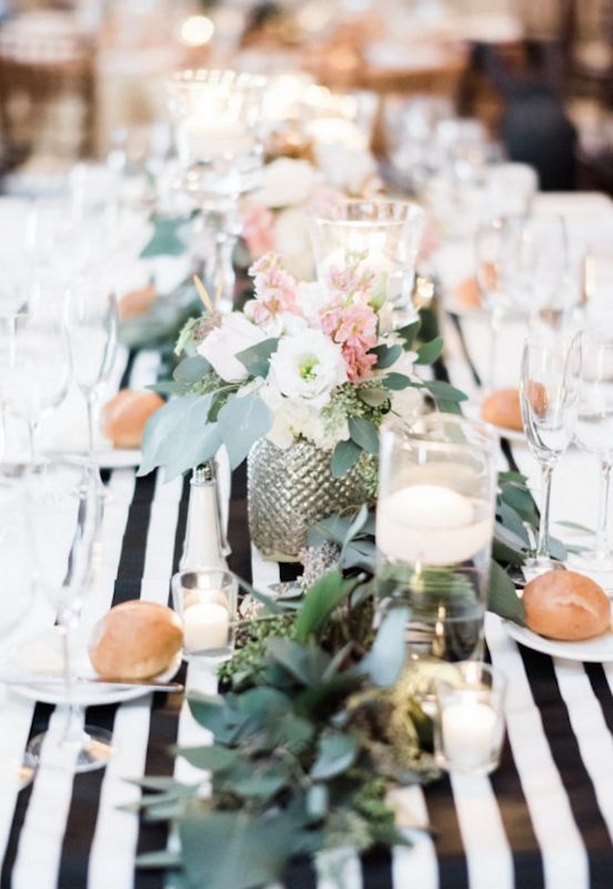 Wedding centerpiece idea; photo: Honey Honey Photography