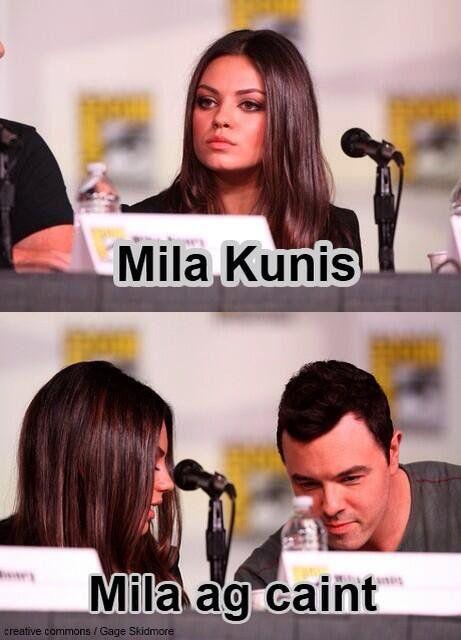 """Mila Kunis - Mila ag caint! #Gaeilge"""
