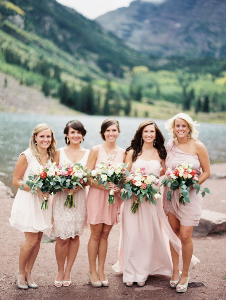 perfect bridesmaids! http://www.StyleMePretty.com/2014/03/18/elegant-aspen-wedding-with-boho-flair/  Sarah Joelle Photography
