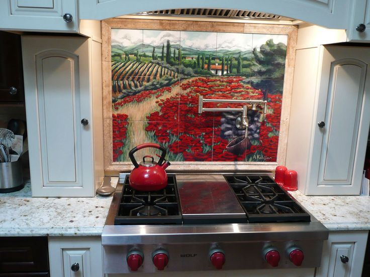 42 best Kitchen Backsplash Tile Murals with Art and Pictures images ...
