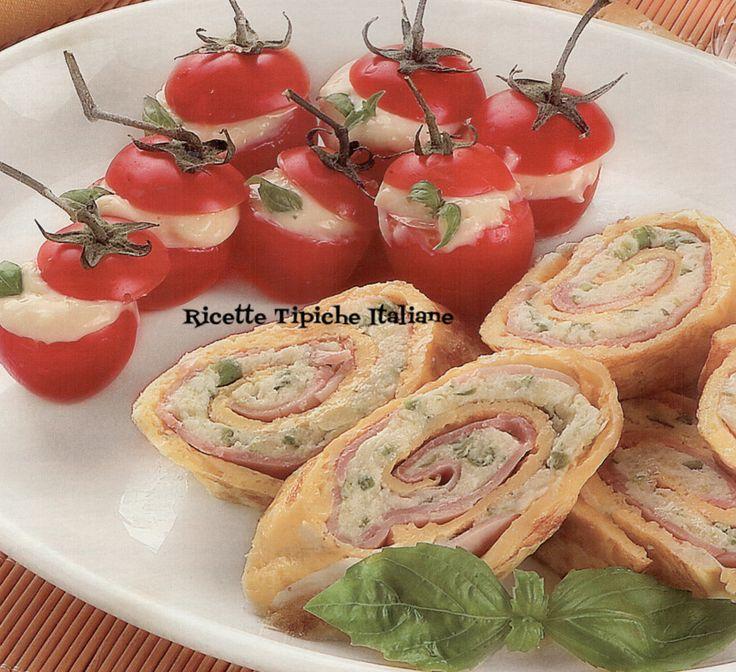 Girelle di frittata e pomodorini