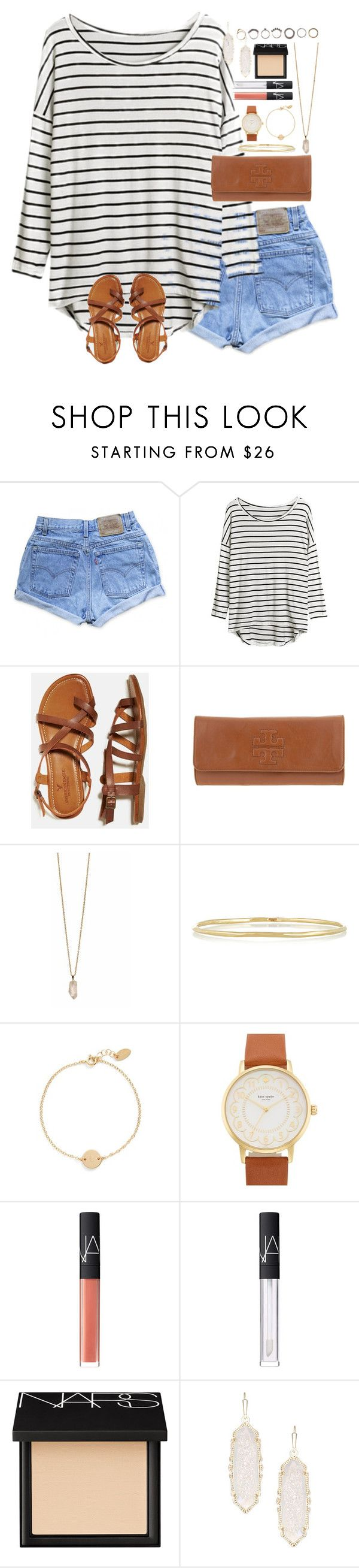 """Sometimes it all gets a little too much, but you gotta realize that soon the fog will clear up"" by lauren-hailey ❤ liked on Polyvore featuring Levi's, American Eagle Outfitters, Tory Burch, Zoya, Ippolita, Nashelle, Kate Spade, NARS Cosmetics, Kendra Scott and Iosselliani"
