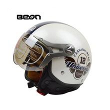 US $43.23 2017 Beon vintage Motorcycle helmet capacete motorcycles motorbike helmet DOT approved summer half helmets casco motorcycle. Aliexpress product