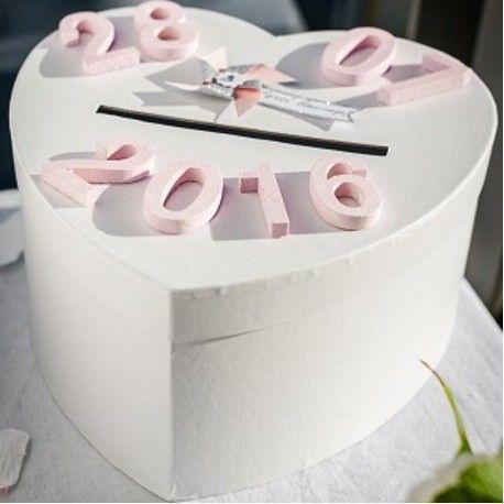 love box tirelire cagnotte urne des maries coeur blanc dcoration mariage baptme - Cagnotte En Ligne Mariage