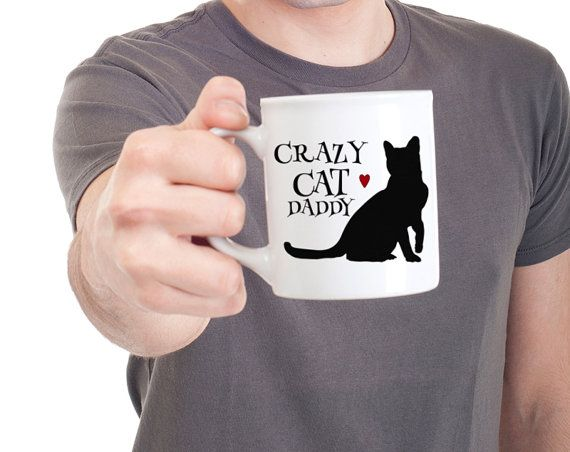 Cat Mug Funny Mugs Crazy Cat Daddy Coffee Mug Cat Dad by Mugsleys