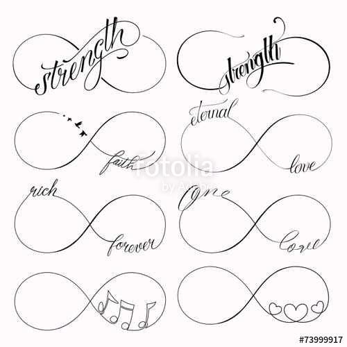 Les 10 meilleures id es de la cat gorie tatouages de nom d 39 enfant sur pinterest tatouages nom - Tatouage signe infini avec prenom ...