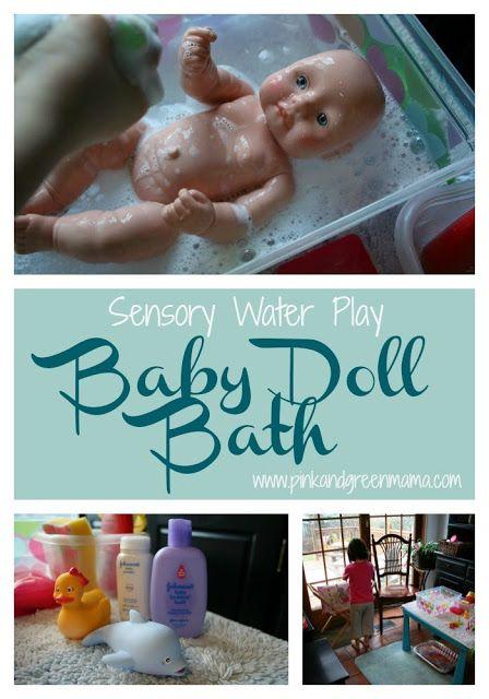 Preschool At Home: Washing Baby Dolls