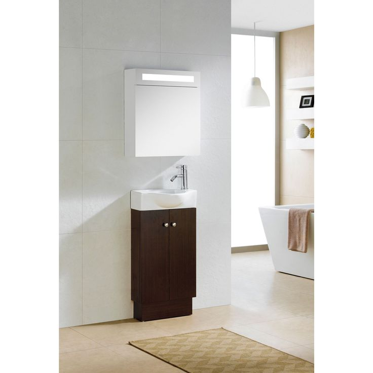 Gallery Website Give your bathroom a quick update with this stylish wenge and white vanity With two