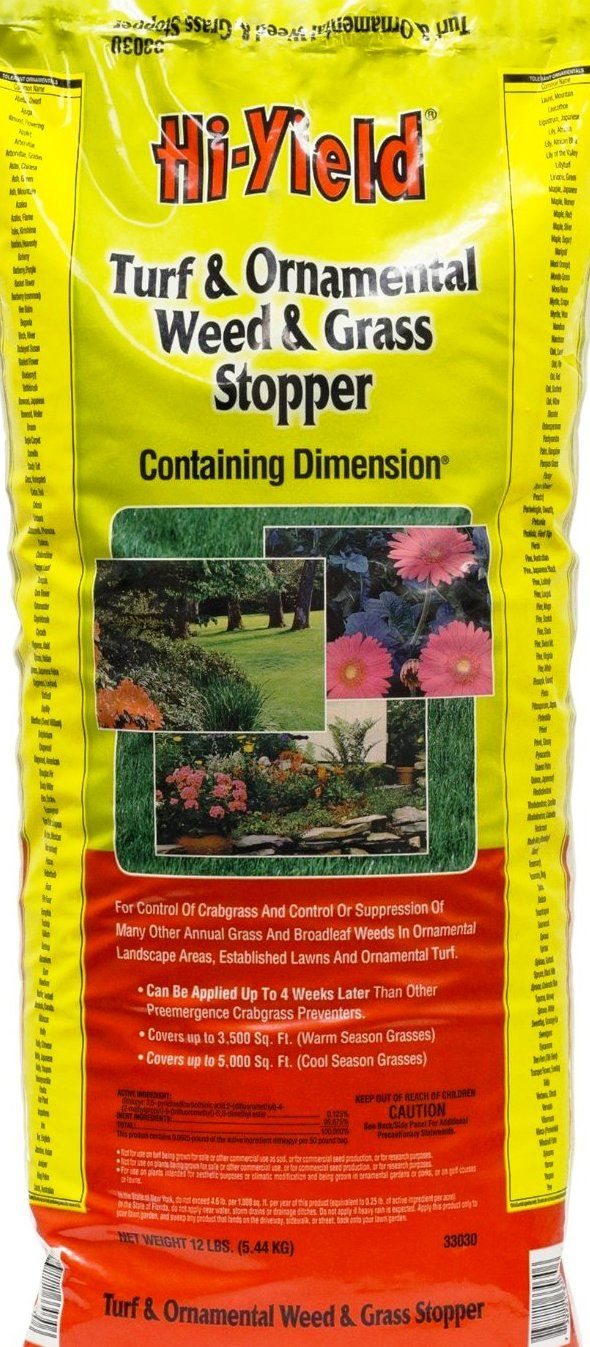 Apply before the next weather system hits. This granular seed killer will keep the worst of early spring foxtails, dandelions, and horehounds from emerging in rock lawns and flowerbeds. Preventer must be applied before the weeds emerge or it will be